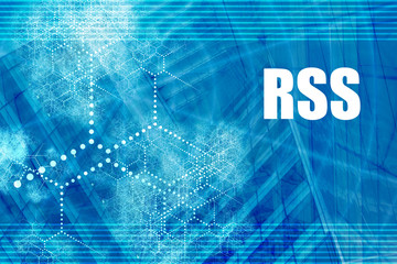RSS Blue Abstract Background with Internet Network