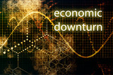 Economic Downturn Abstract Business Concept Wallpaper Background poster
