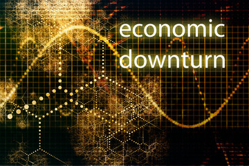 Economic Downturn Abstract Business Concept Wallpaper Background