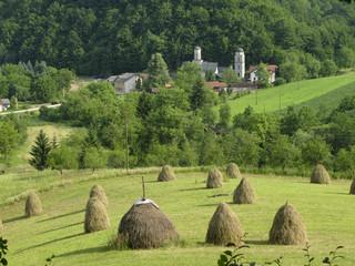Liplje monastery summer landscape, near Banja Luka