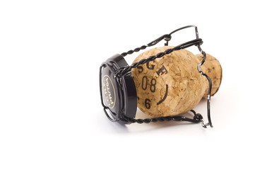 Sparkling wine cork with metal cage