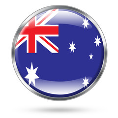 Australia Flag icon button series