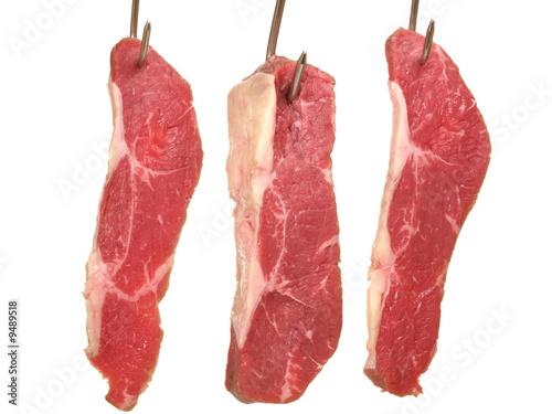 Rindfleisch am Fleischhacken