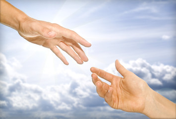 the helping hand (cooperativeness concept image)