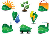 Large Ecology Icon Set. Easy to edit vector. poster