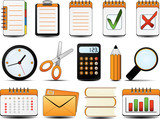 Office Icon Set One. Easy to edit vector. poster