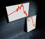 image 3d of decreasing financial diagram poster