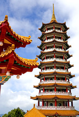 Image of a Chinese pagoda in Malaysia.