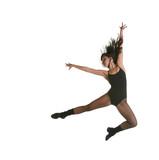 Modern Jazz Street Dancer Jumping With Intentional Motion Blur poster