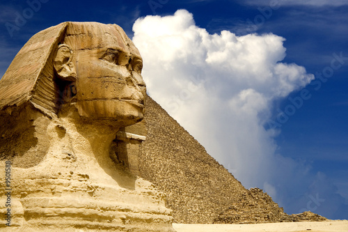 Plexiglas Egypte The Sphinx and the Great Pyramid, Egypt.