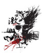 Quadro abstract design artwork t-shirt