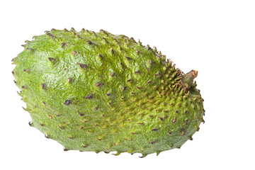 Isolated close-up image of a soursop.