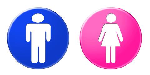 Icones homme et femme