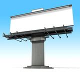 Blanck advertisement billboard on a neutral background poster