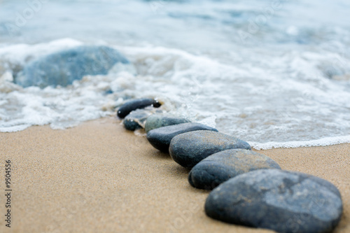 Abstract path from a pebble. A sea surf.