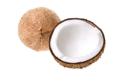 Isolated image of coconuts.