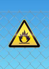 Panneau de danger inflammable