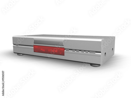DVD-Player silber