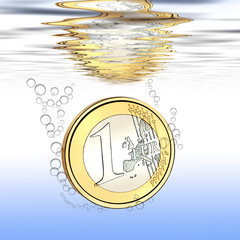 Euro affonda