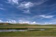 Beautiful prairie and agriculture in Alberta, Canada