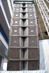 concert loudspeaker tower