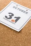 Holiday Halloween, calendar October 31 poster