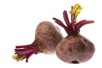 Isolated image of Beetroots.