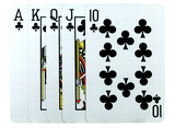 playing-cards on a white background are a risk poster