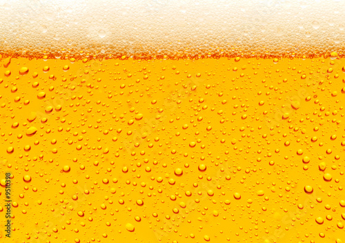 Foto op Canvas Bier / Cider Close up of beer bubbles