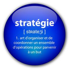 """Bouton """"Stratégique"""" avec définition"""
