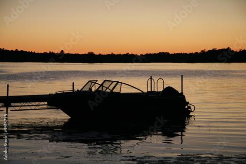 sunrise boat docked