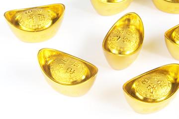 Rise of the Asian Economy Symbolized Through Gold Ingots
