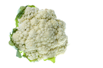 Isolated macro image of a cauliflower.