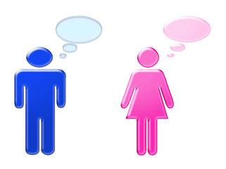 Pensées masculines et féminines