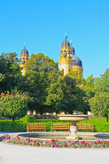 The scenery at the Residenz and Odeonsplatz in Munich