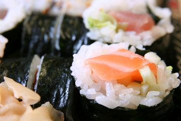 appetizing sushi close-up