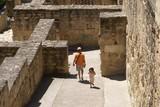 visitors/ tourists visiting medina azahara,cordoba, spain poster