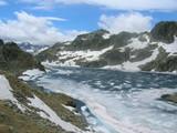 lac du Pourtet à la fonte des neiges poster