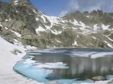 Lac du Pourtet et fonte des neiges poster