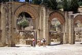 tourists/ visitors visiting medina azahara,cordoba, spain poster