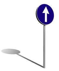 segnale stradale direzione