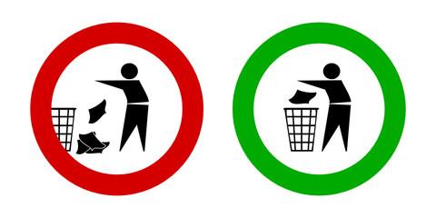 zeichen umwelt sauber halten