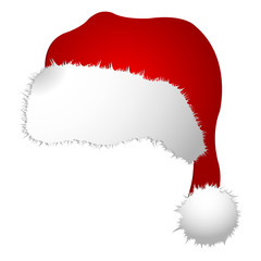 Santa Claus cap isolated over white background