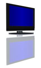 flat LCD tv Liquid-Crystal Display on white