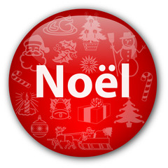 "Bouton ""Noël"" avec illustrations multiples"