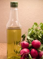 Rabanos y oliva