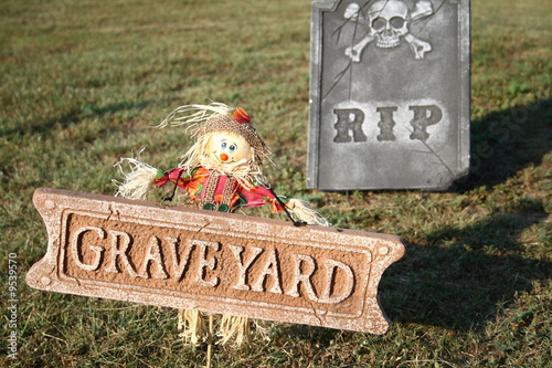 Scarecrow and Graveyard