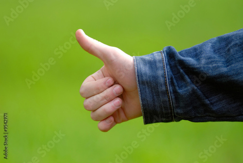 gesture by  hand - it is good on  green background