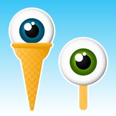 Eyeball popsicle / ice cream