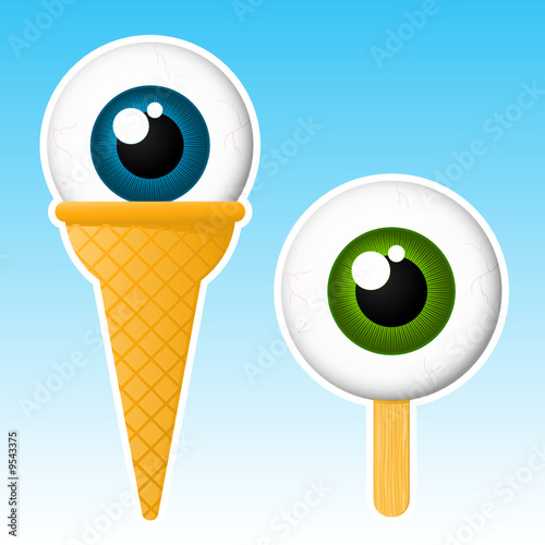 Eyeball popsicle / ice cream